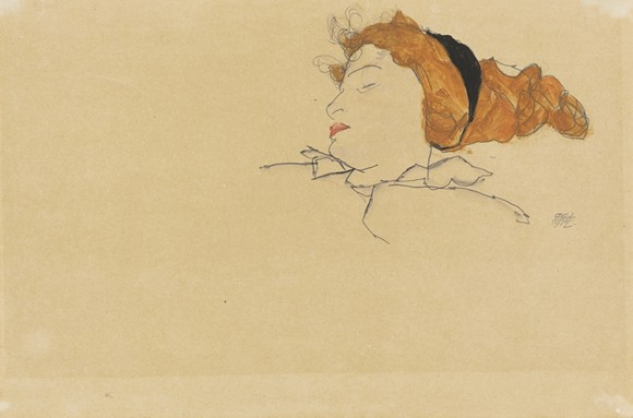 "EGON SCHIELE, ""SLEEPING WOMAN (WALLY NEUZIL)"""