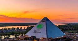 Sunset over Bass Pro Shops at The Pryamid. - BASS PRO SHOPS