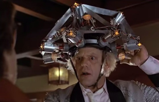 National treasure Christopher Lloyd as Doc Brown in Back To The Future