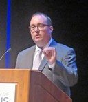 Debate moderator Kyle Veazey - JB