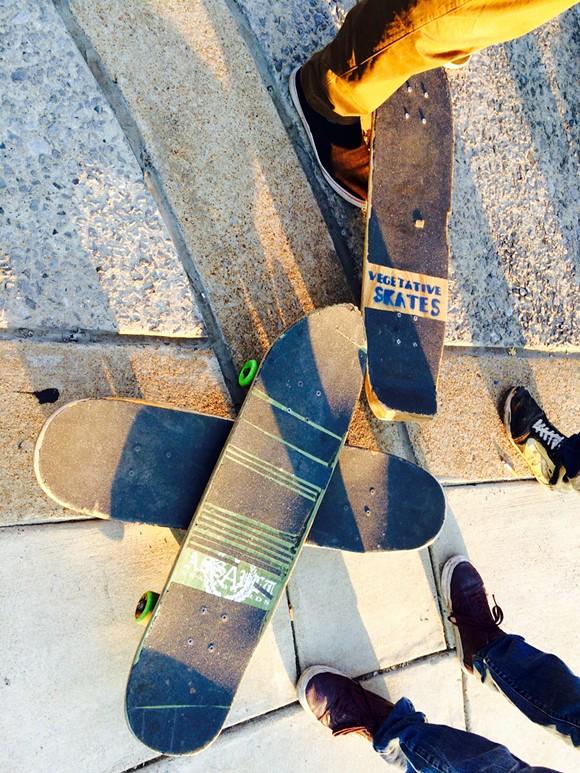 A floatilla of Gonerfester skateboards. - CHRIS MCCOY