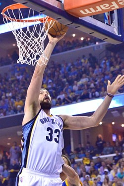 Marc Gasol was passive and looks like he's still playing his way into shape. - LARRY KUZNIEWSKI