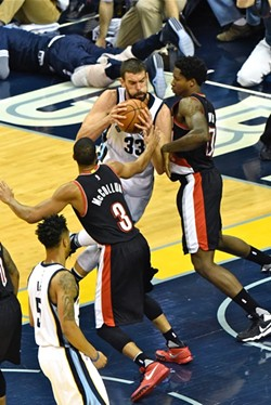 Marc Gasol finished with 31 points. - LARRY KUZNIEWSKI
