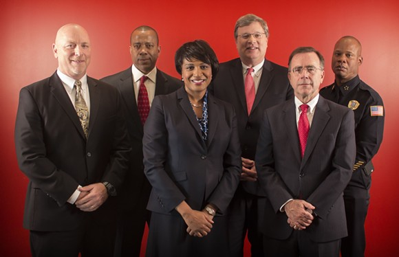 From left: Doug McGowen, Bruce McMullen, Ursula Madden, Jim Strickland, Brian Collins, Toney Armstrong.