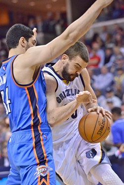 Marc Gasol followed up one of his worst games of the year by... having another one - LARRY KUZNIEWSKI