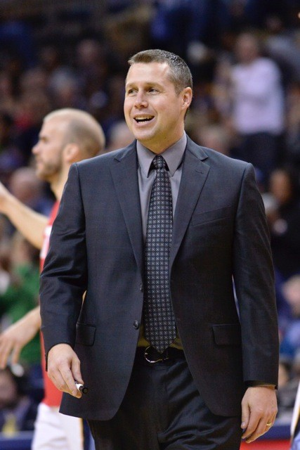 I don't have a picture of Ryan Hollins in a Griz jersey so here's Dave Joerger. - LARRY KUZNIEWSKI