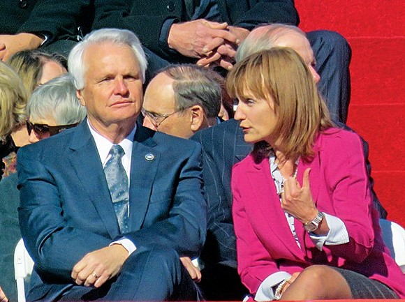 Ramsey and Harwell at inaugural activities in 2015. Events may have forced their hand. - JB