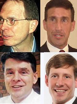 Clockwise,from top left: Flinn, Kustoff, Kelsey, Leatherwood - JB
