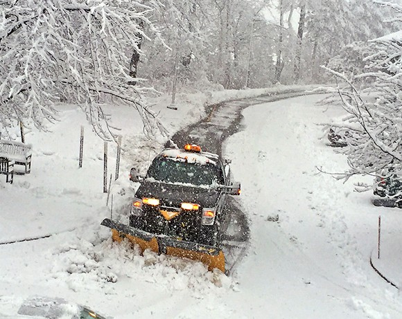 A New Hampshire snowplow tries to make the world safe for democracy. - JB