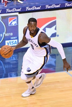 JaMychal Green, who has played more games (70 of 74) for the Grizzlies than anybody this year. - LARRY KUZNIEWSKI