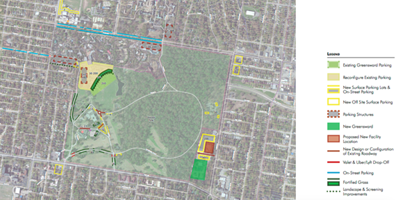 An overall map shows places for additional parking. - OVERTON PARK CONSERVANCY
