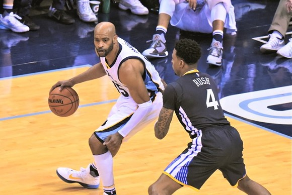 Vince Carter started his first game of the season. - LARRY KUZNIEWSKI