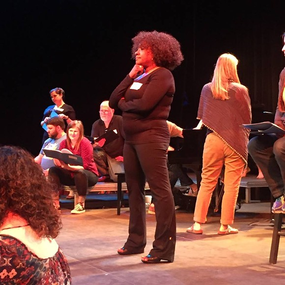 Florence Johnson, Amy Matheney, and an all Rhodes cast celebrate the career and legacy of Cookie Ewing.