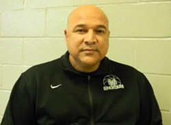 White Station basketball Coach Jesus Patino