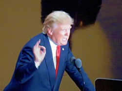 The Donald, making his pitch in Cleveland - JB
