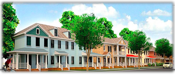 A rendering of the proposed Mason Village as it appeared in Wharton's 2016 budget. - CITY OF MEMPHIS