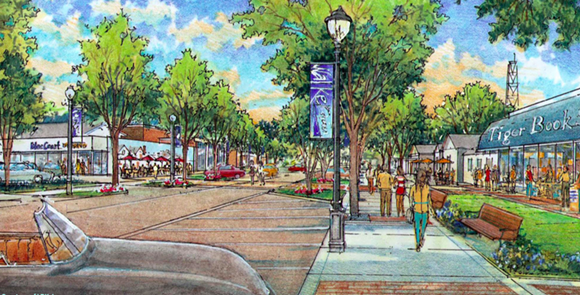 An artist's rendering of new streetscapes around the U of M. - UNIVERSITY NEIGHBORHOOD DEVELOPMENT CORP.