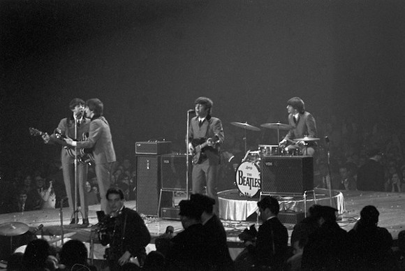 The Beatles play Washington D.C during their 1964 tour of America in Eight Days A Week.