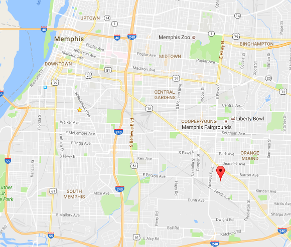 Pin indicates corner of South Cooper and Lowell. - GOOGLE MAPS