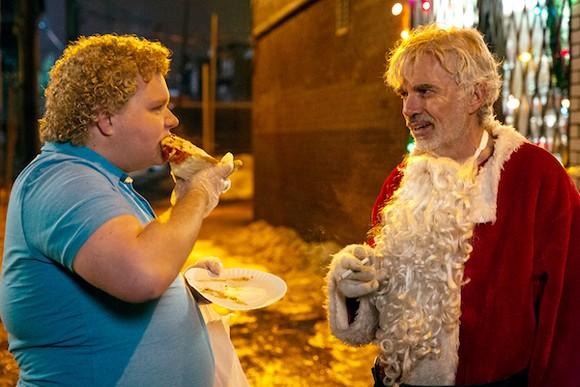 Brett Kelly and Billy Bob Thornton share deep dish pizza and a cig.