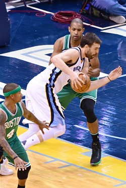 Marc Gasol was good, but the Grizzlies need him to be great. - LARRY KUZNIEWSKI