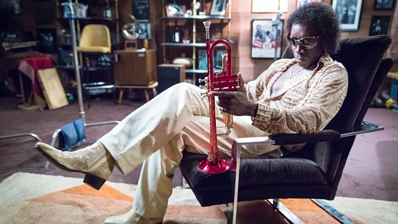 Don Cheadle as Miles Davis in Miles Ahead.