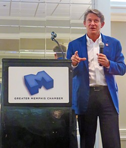 Commissioner Randy Boyd at Chamber luncheon - JB