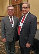 Ryder (r), with RNC successor Webb in Memphis on Thursday. - JB