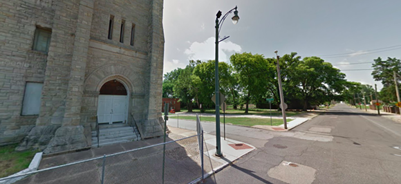 """This site next to Clayborn Temple will be the site of """"I Am A Man Plaza."""" - GOOGLE MAPS"""