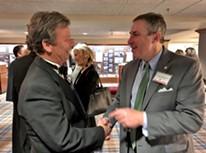Uhlhorn (l) with Germantown Mayor Mike Palazzolo - JB