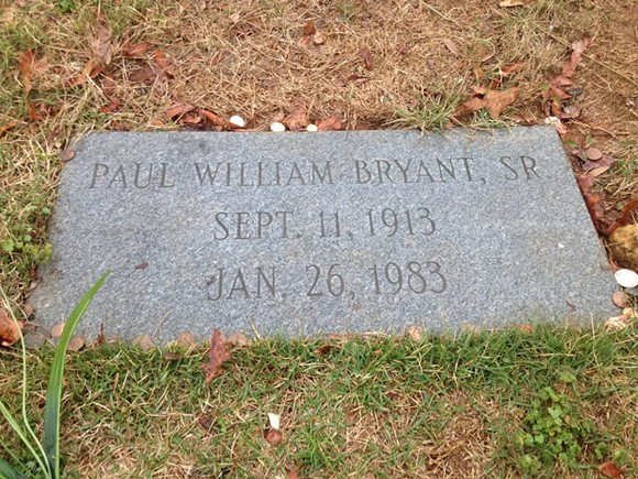 Here rests Bear Bryant