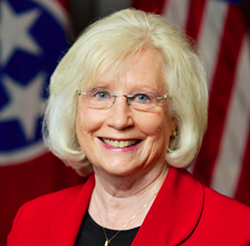 Senator Mae Beavers is one of the lawmakers defying the U.S. Supreme Court's legalization of same-sex marriage.