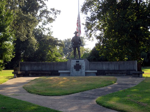 The statue at Spanish War Memorial Park in Midtown. - FLICKR/JOE SPAKE
