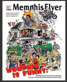 Memphis Flyer cover art by Memphis comic/artist Mitchell Dunnam.