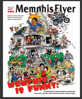 Memphis Flyer cover art by Memphis comic/artist Mitchell Dunnam.