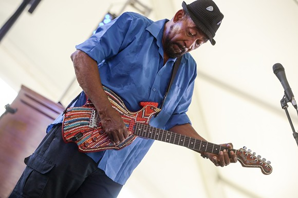 Super Chikan in the Blues Tent at BSMF '17 - BRIAN ANDERSON