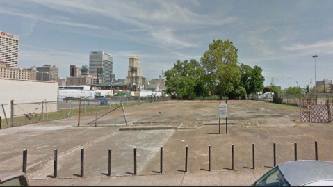 Vacant lot on Beale Street  that the VIB Best Western would occupy