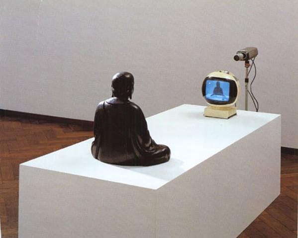 Nam Jun Paik's 1974 sculpture TV Buddha.