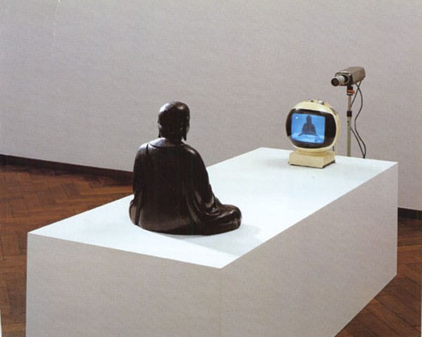 Nam Jun Paik's 1974 sculpture TV Buddha.