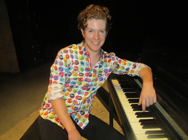 """Nathan McHenry plays Jerry Lee Lewis in """"Million Dollar Quartet."""" - MICHAEL DONAHUE"""