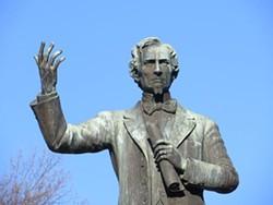 JEFFERSON DAVIS STATUE AT THE MEMPHIS PARK