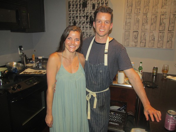 Courtney Boyd and Cole Jeanes at Le Youth - MICHAEL DONAHUE