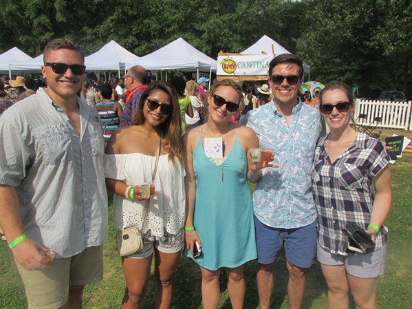 Dylan Anderson, Mayce Moore, Britney Hassel, Tom Moore and Trisha Cason at Margarita Fest - MICHAEL DONAHUE