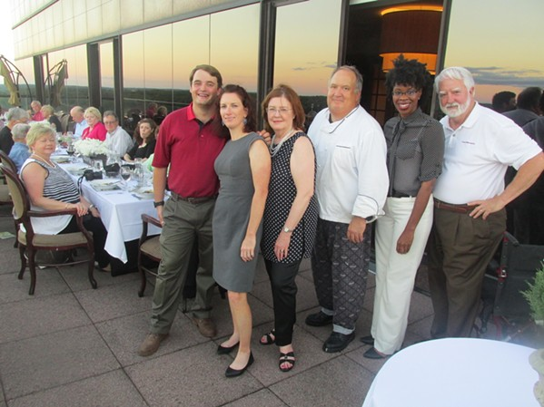 Bridges Phillips, Michaelyn Bradford, Stan Gibson, Cynthia Thompson, Angel Fisther, Charles Thompson were at Farm to Table Wine Dinner at the Crescent Club. - MICHAEL DONAHUE