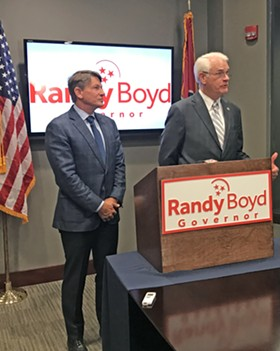 Boyd (l) and Luttrell at endorsement ceremony - JB