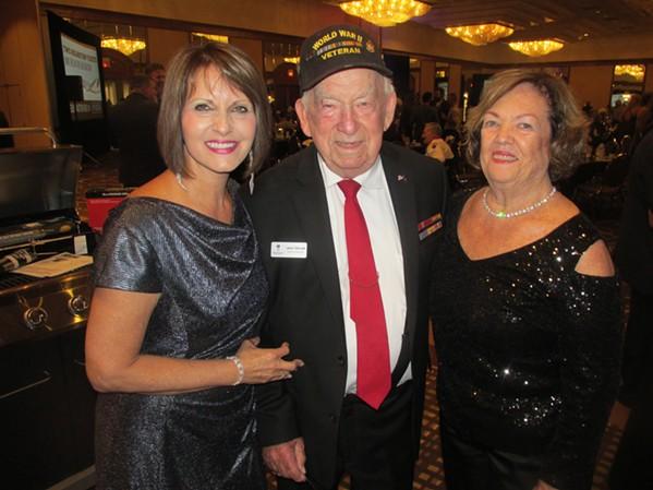 Diane Hight, Jack Taylor and Sandra Shinault at Dreamgivers Gala. - MICHAEL DONAHUE