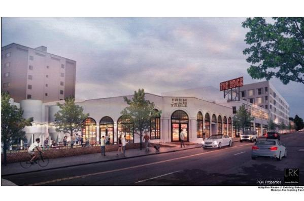 Rendering of adaptive reuse of former Wonder Bread bakery - DEVELOPMENT SERVICES GROUP