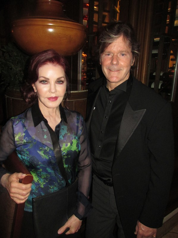 Priscilla Presley and Jerry Schilling were at The Peabody's Corner Bar during Elvis Week. - MICHAEL DONAHUE