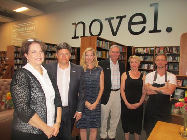 Novel bookstore soft opening. - MICHAEL DONAHUE