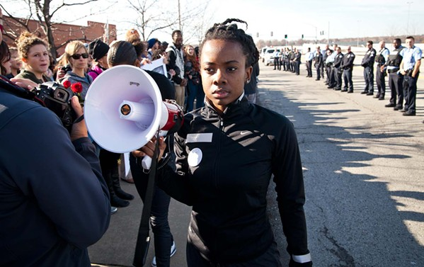 Activist Brittany Ferrell marches in Whose Streets?